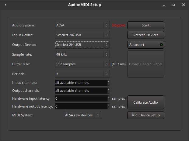 Audio midi setup scarlett